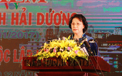 national assembly chairwoman attends 20th anniversary of hai duong province hinh 0