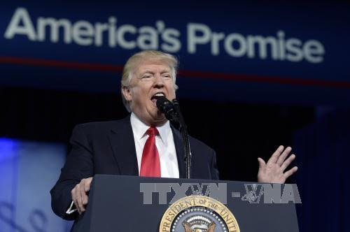 US President Donald Trump vows military build-up