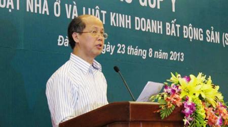 El vice ministro de Construcción, Nguyen Tran Nam