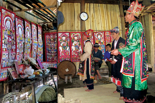 Worship paintings of Vietnam's northern ethnic groups Sunday Show